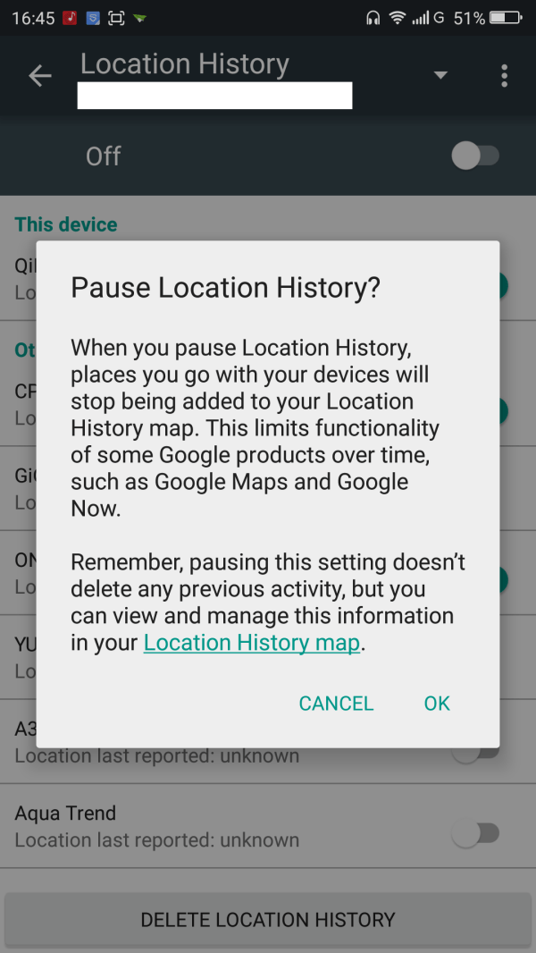 Google Maps Guide Clear And Location History - Phoneradar