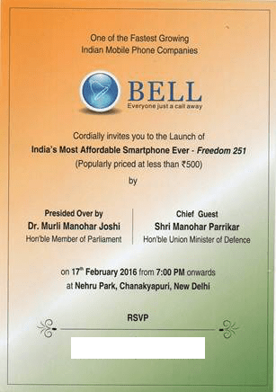 Bell Freedom 251 Invite