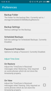 sms backup and restore app preferences