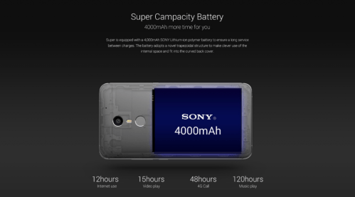 UMI Super Sony 4000 mAh Battery