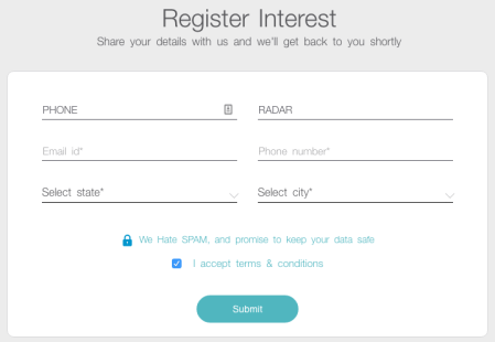 Register Interest JIO SIM Card