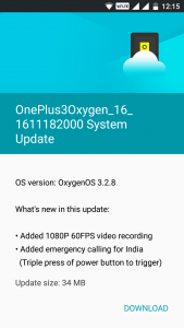 OnePlus 3 System Update