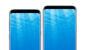 Coral Blue Samsung Galaxy S8 & the S8 Plus poses for a photo