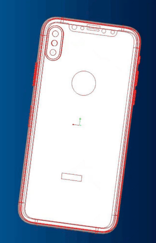CAD images of the Apple iPhone 8-1
