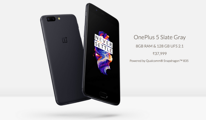 OnePlus 5 8GB RAM Variant Now Comes in Slate Gray Color in India    Officially Launched  by Teja Chedalla 58 mins ago1