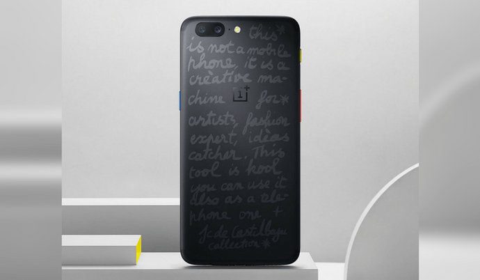 Check out the new look of the OnePlus 5 JCC Limited Edition