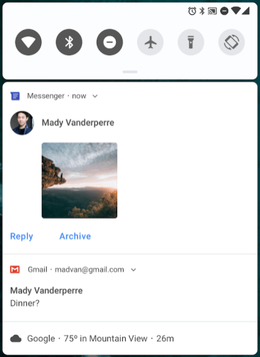 Improved messaging notifications Android P 2