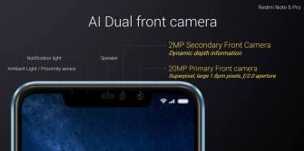 Redmi Note 6 Pro Dual Front Cameras