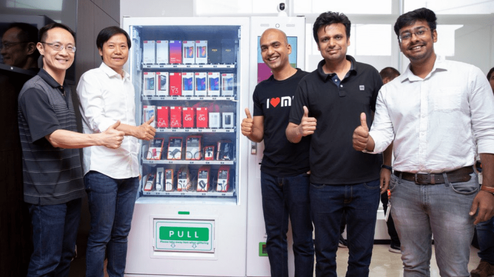 Image result for Xiaomi to sell phones via vending machines in India