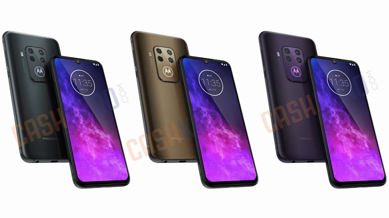 Motorola One Pro render surfaces, parades Quad-camera setup