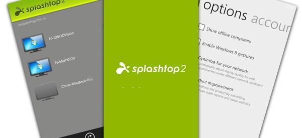 Splashtop 2 per Windows Phone 8: rilasciata l'app per controllare il pc da remoto