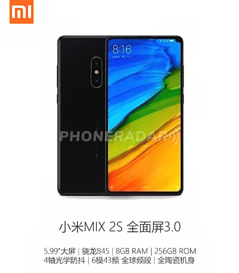 Xiaomi Mi Mix 2S scalza iPhone X: trapelato design finale e specifiche tecniche