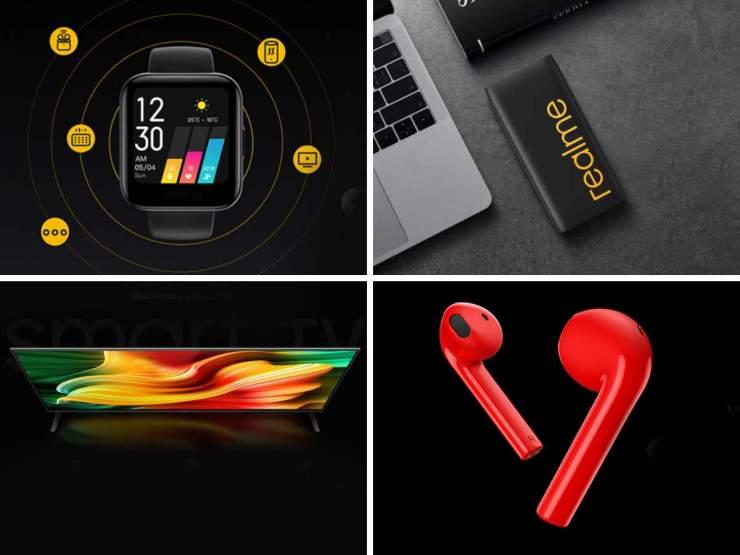 Realme smartwatch and smart TV