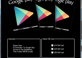 Google Play GiftCard Generator No Human Verification 2021