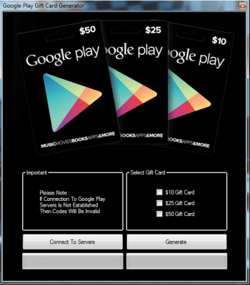 Google Play GiftCard Generator