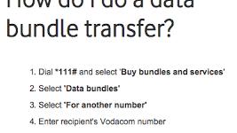 Transfer Vodacom Data