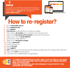 How to create NSFAS Account