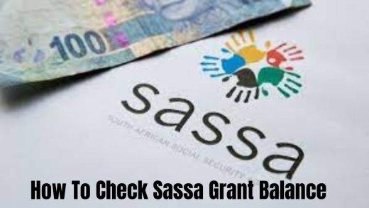 how to do SASSA Child grantbalance check online