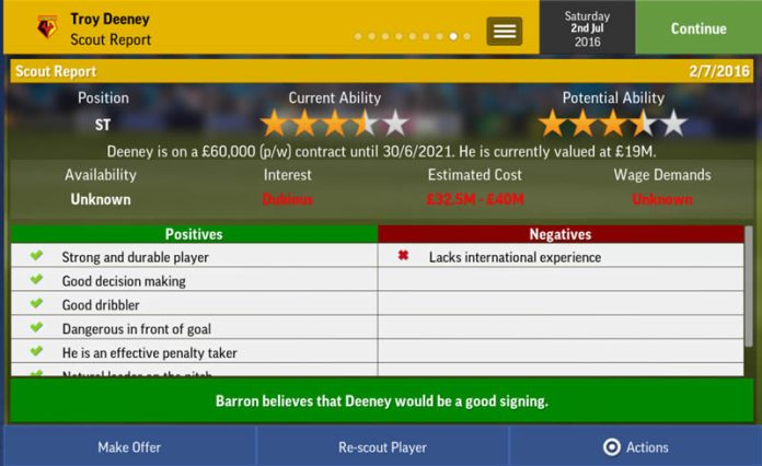FMM17 Scout report