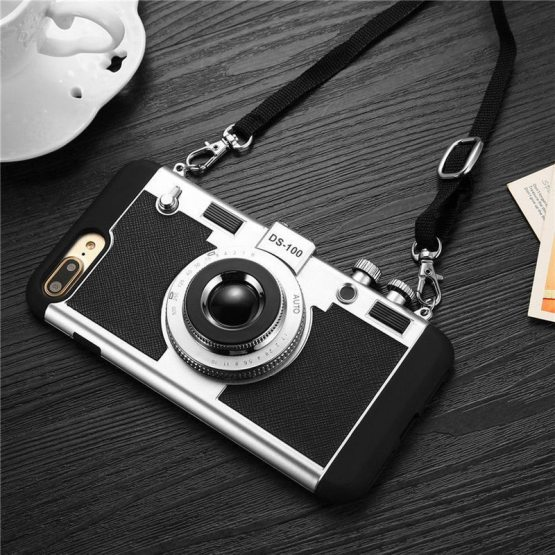 Cool 3D Retro Camera Phone Case For iPhone X 10 XS Max XR Hard PC Anti-Skid Cool 3D Retro Camera Phone Case For iPhone X 10 XS Max XR Hard PC Anti-Skid Cover For iPhone 11 Pro Max 6 6S 7 8 Plus 5 5S SE.