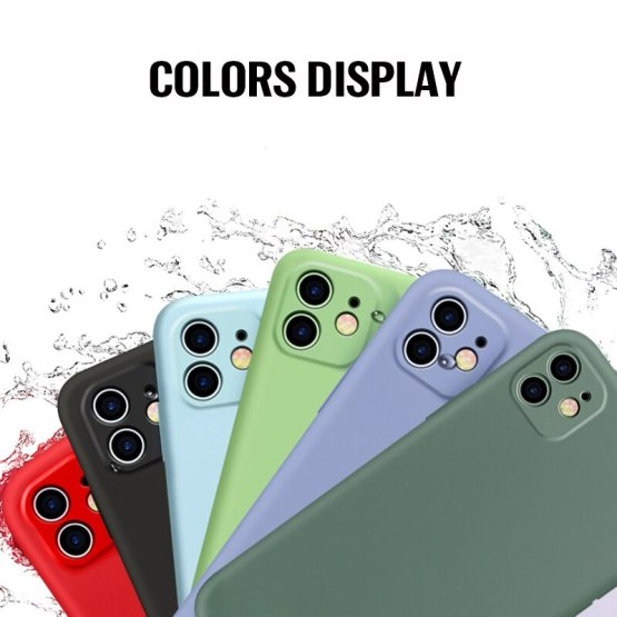 Luxury Liquid Silicone Case on For IPhone 11 Pro Max Cover Soft Silicone Back Case IPhone 11 Pro Max Case Camera Protection