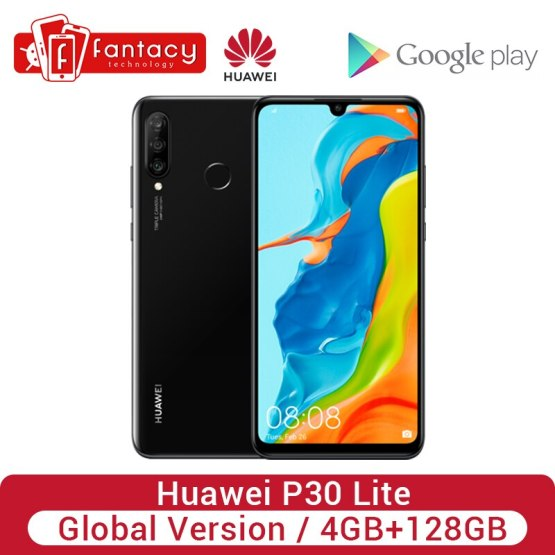 Global Version Huawei P30 Lite 4GB 128GB 24MP Triple Cameras Smartphone 32MP Front Camera 6.15'' Full Screen Kirin 710 18W QC
