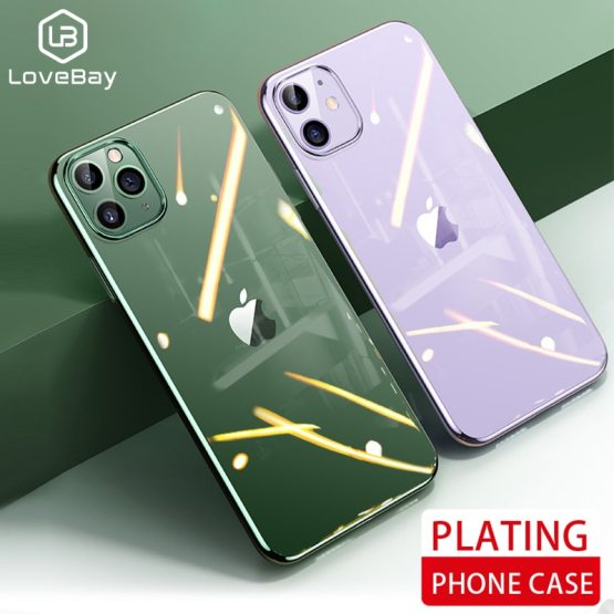 Lovebay For iPhone 11 Pro X XS XR Max Electroplated Phone Case Ultra Thin Lovebay For iPhone 11 Pro X XS XR Max Electroplated Phone Case Ultra Thin Plating Cases Soft Back Cover For iPhone 6 6s 7 8 Plus.