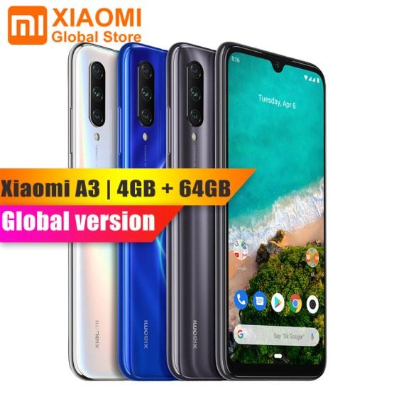 Global Version Xiaomi Mi A3 4GB 64GB Snapdragon 665 Octa Core 32MP+48MP Front Rear Dual Camera 4030mAh Smartphone