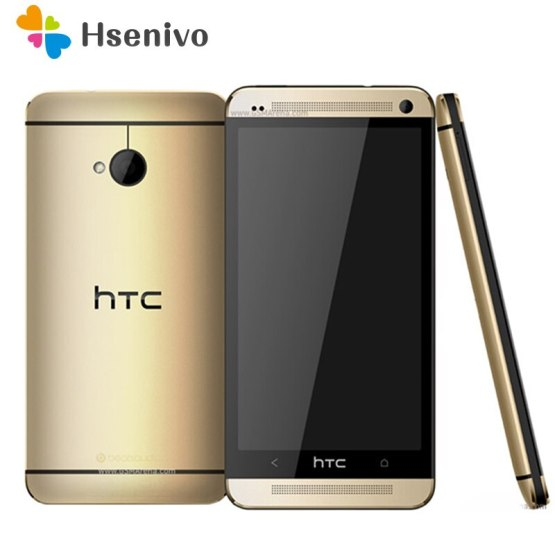 Unlocked Original Mobile Phones HTC ONE M7 2GB RAM 32GB ROM Smartphone 4.7 inch Screen Android 5.0 Quad Core Touchscreen HTC M7