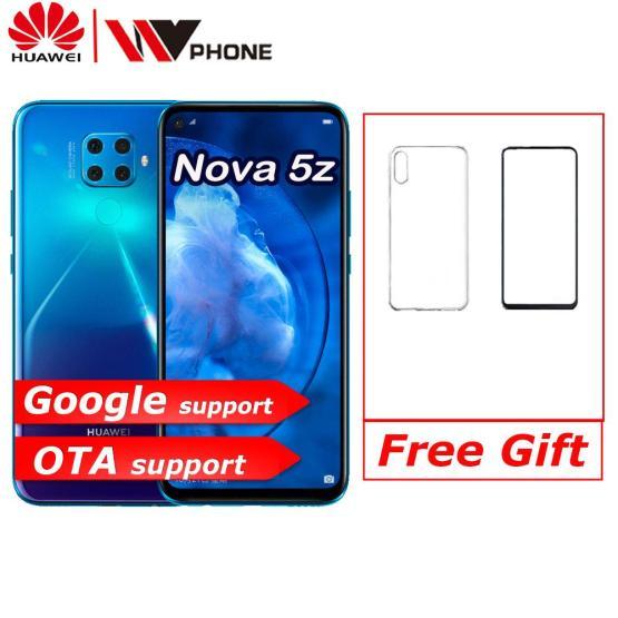 Huawei Nova 5z SmartPhone Kirin 810 Ai Octa Core 6.26 inch Android 9.0 Fingerprint unlock Support Google play
