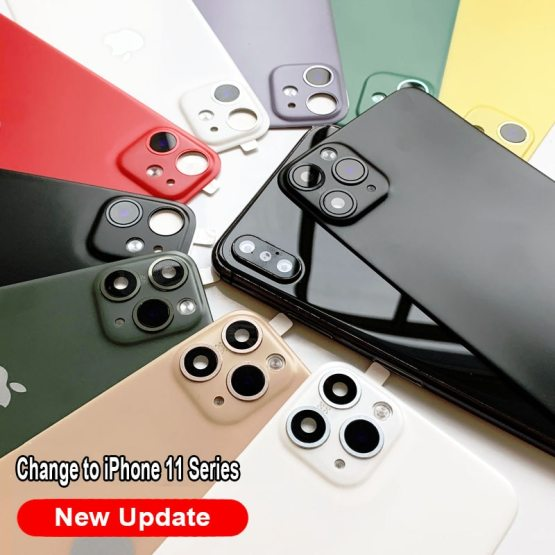 Back Film Protector For Apple iPhone X XS Seconds Change 11 PRO MAX Lens Sticker Modified Camera Cover Titanium Alloy Case Back