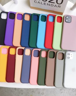 Candy Color Scrub Phone Case For Etui iPhone 11 Pro Max 6 6S 7 8 Plus X XR XS Max Soft Silicone Back Case Coque