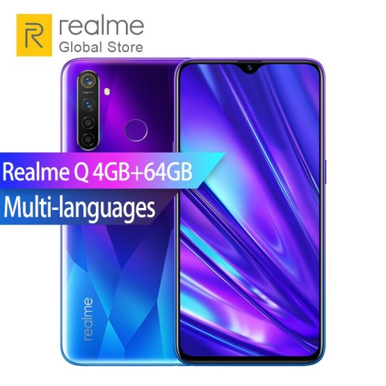 "Realme Q 4GB RAM 64GB ROM Snapdragon 712 Octa Core 6.3"" Full Screen Smartphone 48MP Quad Camera VOOC 3.0 Fast Charger 4035mAh"