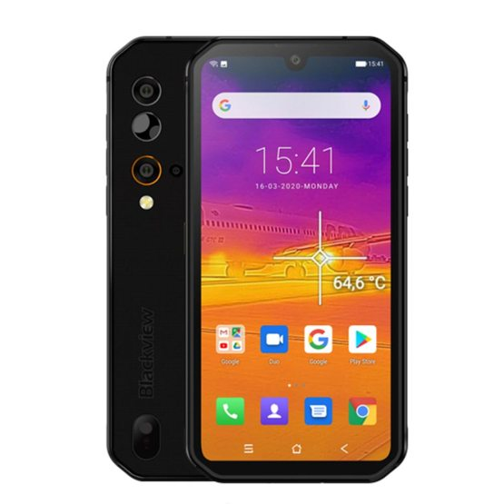 Blackview BV9900 Pro Thermal Camera Mobile Phone Helio P90 Octa Core 8GB+128GB IP68/IP69 Rugged Smartphone 48MP Quad Rear Camera