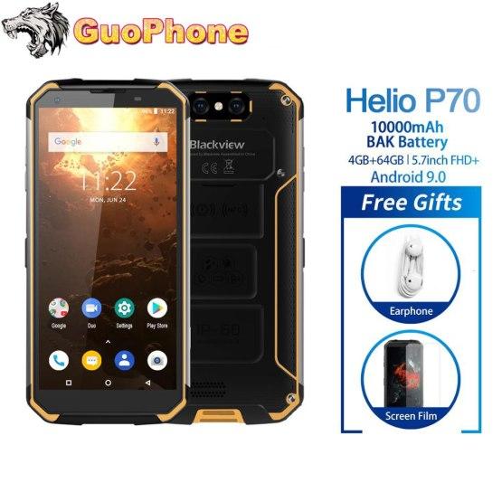 "Blackview BV9500 Plus Smartphone 5.7"" 4GB RAM 64GB ROM Android 9.0 IP68 Waterproof Mobile phone Helio P70 10000mAh Cellphone"