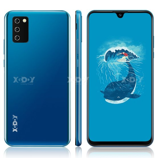 "XGODY NOTE10 Android 9.0 4G mobile phones 2GB RAM 16GB ROM Face ID 5MP Camera Dual SIM GPS WIFI 7.2"" 19:9 smartphone Quad Core"