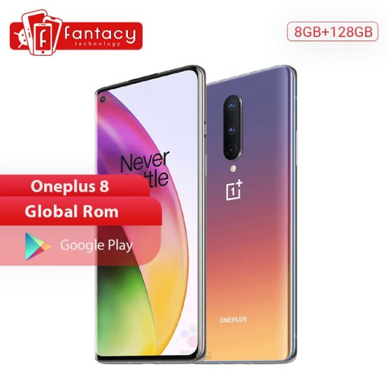 In Stock Global Rom OnePlus 8 5G Smartphone 12GB 256GB Snapdragon 865 Octa Core 6.55'' 90Hz Fluid Screen 48MP Triple Cameras