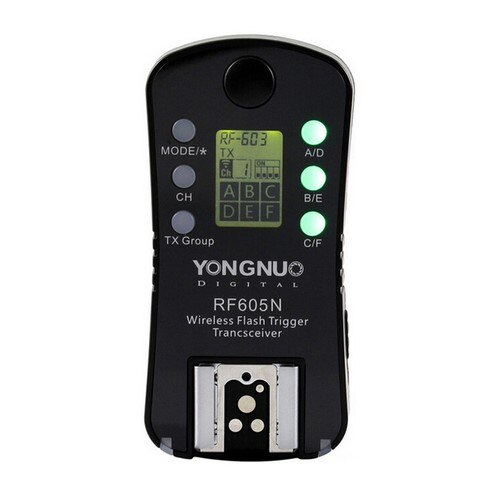 YONGNUO RF605N RF-605 Wireless Group Flash Trigger Transceiver For Nikon DSLR Cameras ,Single only 1pcs