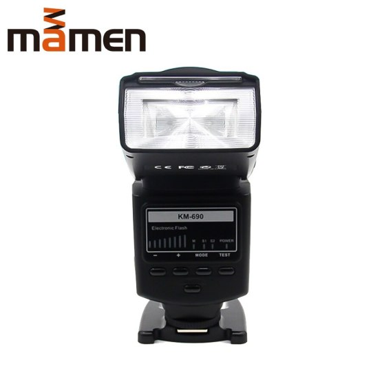 MAMEN KM-690 Professional DSLR Camera Flash With TTL Mode Flash Auto Speedlight For Canon 5D2/60D/70D DSLRs