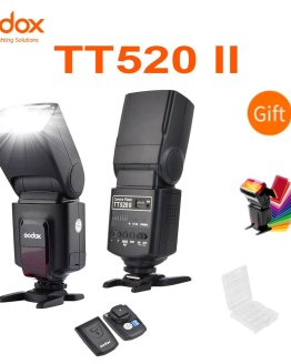Godox Thinklite Camera Flash TT520II with Build-in 433MHz Wireless Signal for Canon Nikon Pentax Sony Fuji Olympus DSLR Cameras