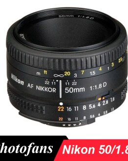Nikon 50mm Lens AF 50 / 1.8D Lenses for Nikon D90 D7100 D7200 D7500 D500 D610 D750 D810 D850 Dslr Camera Lens