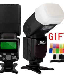 MEIKE MK-930 II Flashlight Photo Speedlight Radio Speedlite for Canon Nikon DSLR Camera Flash Lamp With Diffuser Color filter