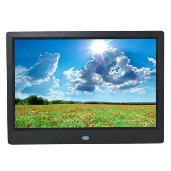 Digital Photo Frame HD 16:9 Crafted Frame with Built in Speaker IPS Screen Digital Picture Frame with Multimedia Player