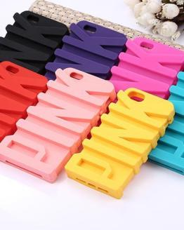 3D P Letter Soft Silicone Case for iPhone 5 5s SE