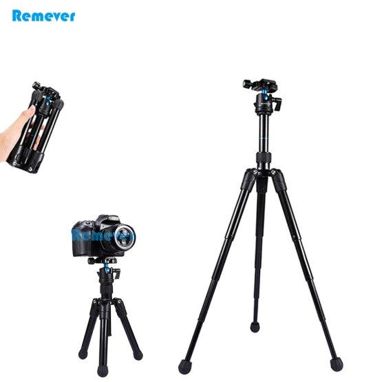 Mini Extendable professional Tripod with Adjustable ball head horizontally 360 degree mount base for DSLR Camera Canon Nikon