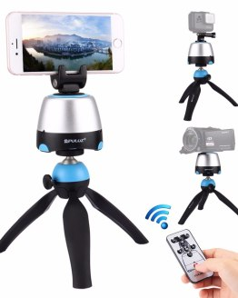 New Arrival 3 in 1 Mini Tripod with 360 Rotation Panoramic selfie Robot Gimbal for Phones Gopro Cameras DSLR +Remote Controller