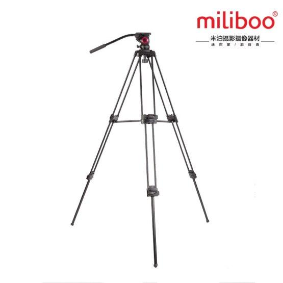 miliboo MTT601A Alloy aluminum Fluid ball head camcorder Video tripod 15kg bear weight with Fluid Bowl Pan Head Tripod