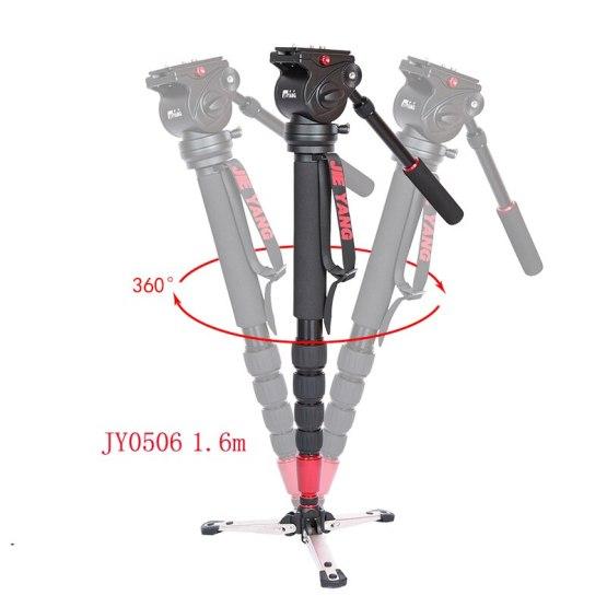 DHL PROGO JIEYANG JY0506 JY0506B Aluminum Alloy Monopod For Video Camera Tripod For Video Tripod Head Carry Bag wholesale