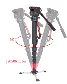 DHL PROGO JIEYANG JY0506 JY0506B Aluminum Alloy Monopod For Video Camera Tripod For Video Tripod Head Carry Bag wholesale
