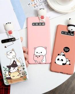 Silicone TPU Phone Case For Samsung Galaxy S9 S8 S10 S20 Plus S10e S7 Edge Note 10 8 9 Lite Plus J5 J7 2017 Coque Cartoon Couple